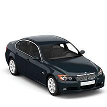 深蓝色宝马330模型