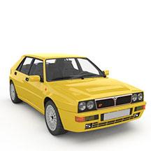 黄色蓝旗亚模型