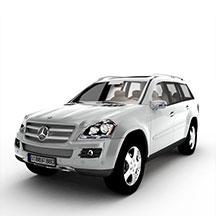 白色奔驰汽车模型