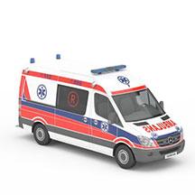 奔驰救护车模型