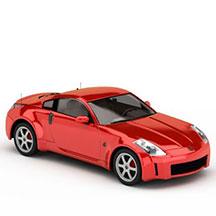 红色汽车模型