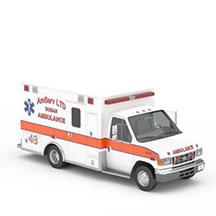 白色救护车模型