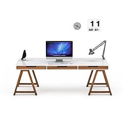 现代简易办公桌3d模型