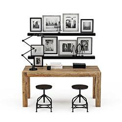 北欧简约桌椅壁挂模型