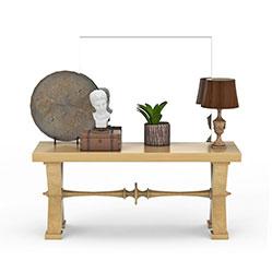 客厅大理石装饰桌模型