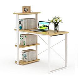 现代书柜电脑桌3d模型