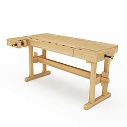 现代多功能木桌3d模型