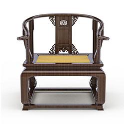中式实木太师椅3d模型