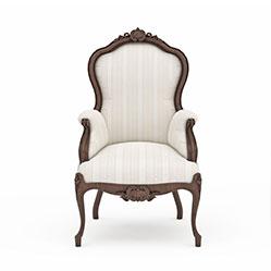 欧式家居布艺椅子模型