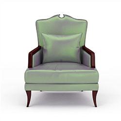 古典欧式布艺椅子模型