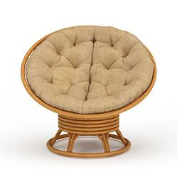 现代创意布艺椅子模型