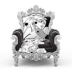 经典欧式雕花椅子模型