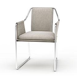 国外简易铁艺椅子模型