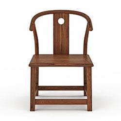 中式靠背实木椅3d模型