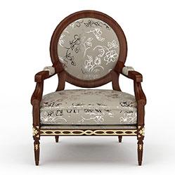 中式休闲沙发椅3d模型