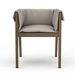 现代简易高脚木椅模型