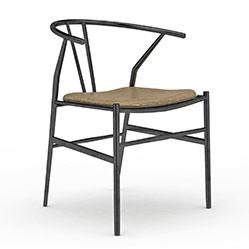 中式铁艺扶手椅3d模型