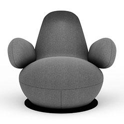 波普布艺休闲椅3d模型