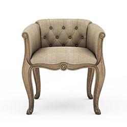 欧式布艺沙发椅3d模型