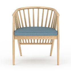 欧式实木沙发椅3d模型