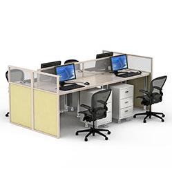 现代办公桌卡位3d模型