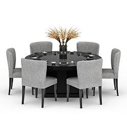 现代简约餐桌椅3d模型