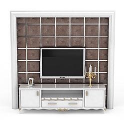 简欧电视柜背景墙模型