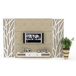 简约花纹电视墙3d模型