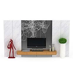 客厅石材电视墙3d模型