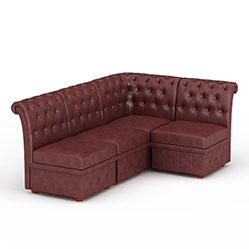 时尚软包拼接沙发模型