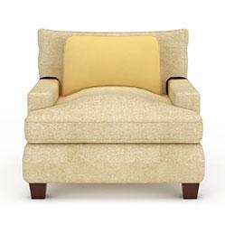 时尚单人休闲沙发模型