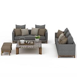 简约布艺沙发茶几3d模型