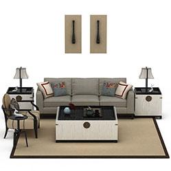 现代简欧沙发茶几3d模型