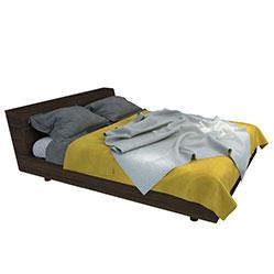 北欧简约实木床3d模型