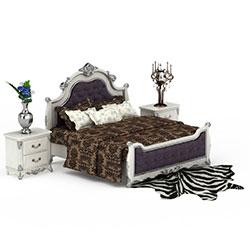 欧式经典舒适卧室床模型