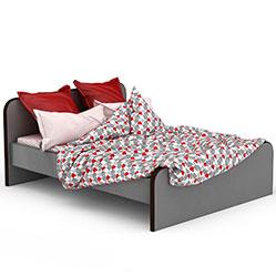 现代时尚板式双人床模型