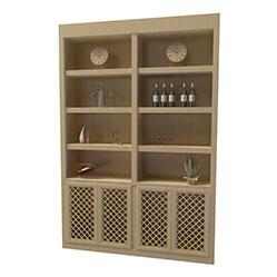 现代实木置物酒柜模型