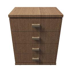 现代实木多屉斗柜模型
