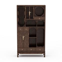 中式实木雕花柜子模型
