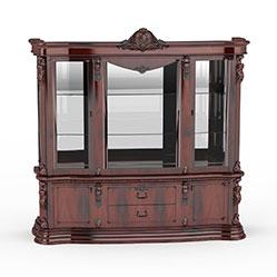 古典欧式红木酒柜模型