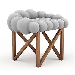 时尚布艺沙发凳3d模型