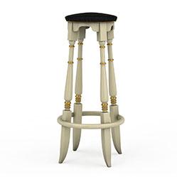 欧式铁艺高脚凳3d模型