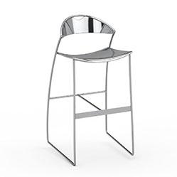 简易不锈钢高脚凳模型