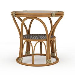 复古藤编圆形凳3d模型