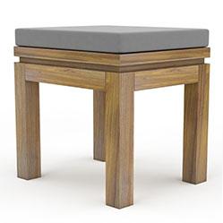 欧式专卖店方凳3d模型