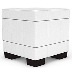 客厅白色布艺方凳模型