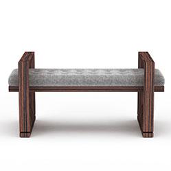 现代休闲布艺长凳模型