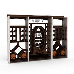 欧式实木红酒架3d模型