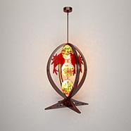 鱼形中式吊灯模型