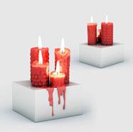 红色蜡烛摆件3D模型